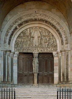 Gislebertus. The Last Judgment, west tympanum, Autun Cathedral. c. 1130 - 1135