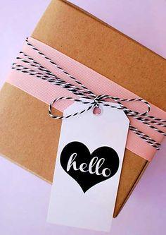 Tags para pacotes de presente