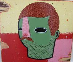 Dan Withey Untitled ( - 2012 Mixed Media on board 34 x Dan, Mixed Media, Board, Prints, Planks, Mixed Media Art