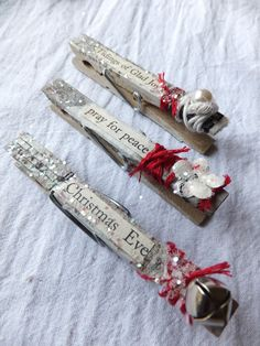 A set of clothespins by @Scarlett Clay from Blue Purple and Scarlett.com