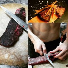 1st attempt of dry aging beef. #foodporn #foodie #foodstagram #igfoodie #igsg #igdaily #chef #aburi #wagyu #beef by ltsjun
