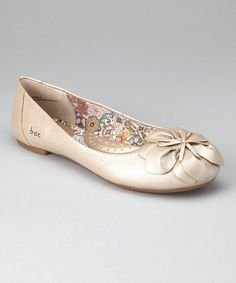 Take a look at this Champagne Metallic Oriana Ballet Flat by b.o.c by Born on #zulily today!