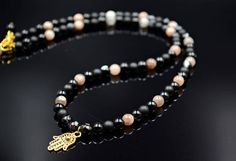 Men's Gemstone Necklace Moonstone Necklace Beaded Necklace
