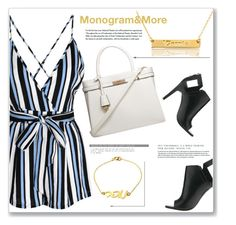 """""""Monogram & More 6/I"""" by amra-mak ❤ liked on Polyvore featuring Glamorous, Alepel, Dorothy Perkins and monogram"""