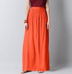 orange maxi skirt at Ann Taylor Loft
