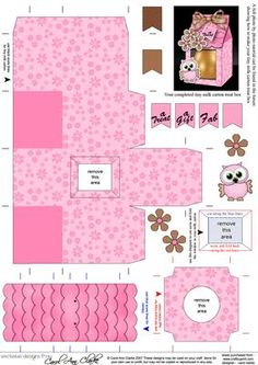 Little Hoot Owl Tiny Easter Egg Milk Carton or Treat Box on Craftsuprint designed by Carol Clarke - Box Template Printable, Paper Box Template, Diy Paper, Paper Crafts, Diy And Crafts, Crafts For Kids, Milk Box, Tiny Gifts, Diy Gift Box