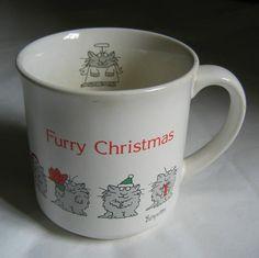 Sandra Boynton Furry Christmas Cat Mug