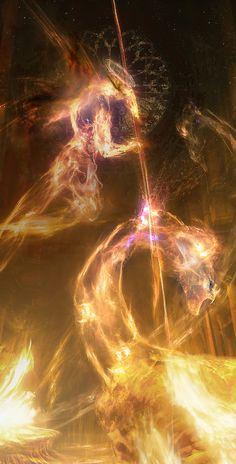 Infinite Legends by Adam Burn Angel Warrior, Ancient Greek Architecture, Prophetic Art, Biblical Art, Angels And Demons, Angel Art, Dark Fantasy Art, Celestial, Christian Art
