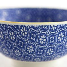 Ambrosia Koko Blue Geometric Bowl - $6.99