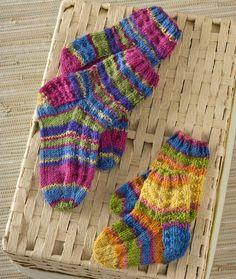 Colorful Knit Kids Socks