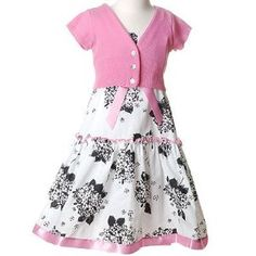 Toddler Little Girls WHITE Floral Dress Bolero BONNIE JEAN Girl 2T-16 (Apparel)  http://www.1-in-30.com/crt.php?p=B001ONVKHE  B001ONVKHE
