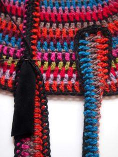 A new way to make my bag handles! VMSom Ⓐ Cage: Crochet BAG