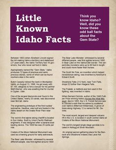 Bet you didn't know these things about Idaho.