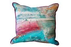 Turquoise Fields Cushion