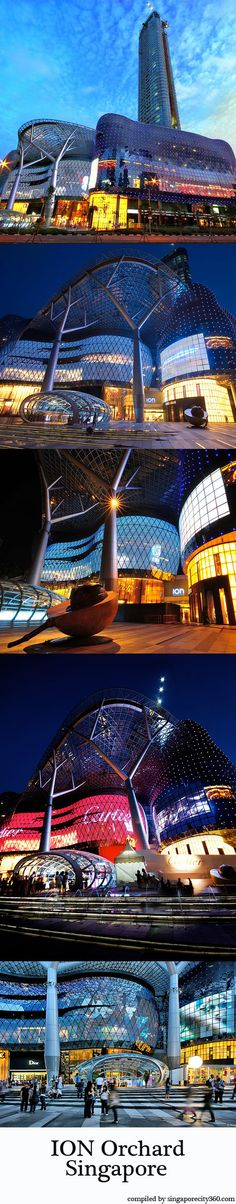 ION Orchard - You can't miss it when you are in Singapore! The shimmering skin of ION Orchard makes a big statement when it catches the sunlight. By nightfall, the mall's allure heightens as its undulating glass facade transforms into a living canvas. Lit up by thousands of LEDs, the skin is ION Orchard's larger-than-life digital billboard. It has a high-definition screen that projects 'live' events and advertisements, and also a media wall that is almost 100 metres long.