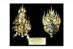 Golden Crowned Diadem Ornament of Beakje Dynasty.