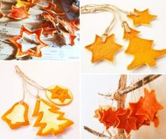 Easy, cheap, beautiful; a perfect decoration item! Learn how to make dried fruit ornaments. #organic #decorations #Holidays