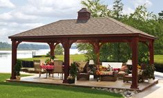 Backyard Landscaping Ideas Garden Structure Outdoor Pavilion: Enjoy the entire summer outdoors with a pavilion in your backyard. Description from pinterest.com. I searched for this on bing.com/images