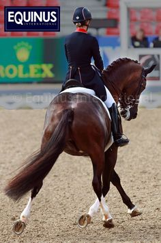Charlotte DuJardin aboard Valegro as they win the Gold In Denmark