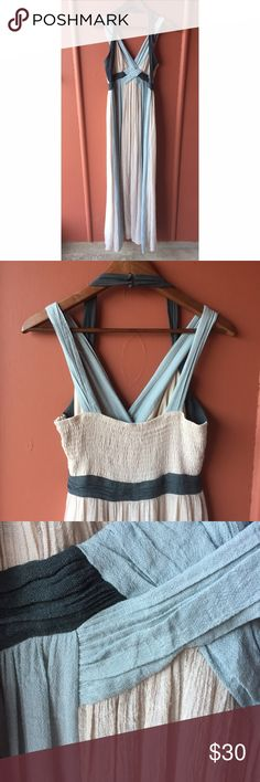 Altar'd State maxi dress Gauze maxi dress with halter and regular straps. In good preowned condition Altar'd State Dresses Maxi