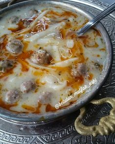 I want you to try a soup this evening. Mutlaka denemenizi tavsiye ederim hari… Lets have some soup tonight. Lunch Recipes, Meat Recipes, Cooking Recipes, Dessert Recipes, Good Food, Yummy Food, Shellfish Recipes, Happy Kitchen, Iftar