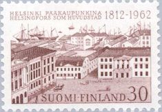 Proclamation of Helsinki as Capital Stamp Collecting, Helsinki, Postage Stamps, Finland, Gallery, Travel, Vintage, Collection, Viajes