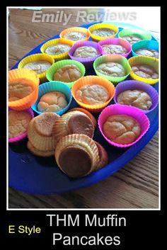 Trim Healthy Mama THM Baked Muffin Pancakes E style Breakfast recipe idea