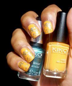 orange and green stamping