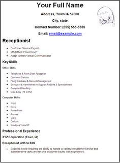 receptionist position resume sample adsbygoogle windowadsbygoogle - Waiter Sample Resume