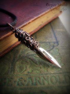 Antique Fountain Pen Nib and Copper Pendant. - $30.00