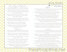 Spring cleaning checklist on I Heart Nap Time