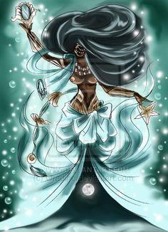 Black Love Art, Black Girl Art, Art Girl, Yemaya Orisha, Orishas Yoruba, African Mythology, Yoruba Religion, Black Art Pictures, Goddess Art