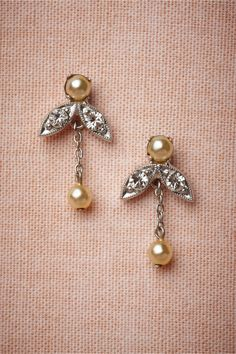 "Aurora Drops in Shoes & Accessories Jewelry Earrings at BHLDN | Debra Moreland, 1"" x .05"" 