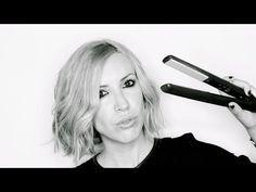 PEINADO: COMO HACER ONDAS EN PELO CORTO BOB CON PLANCHA - YouTube