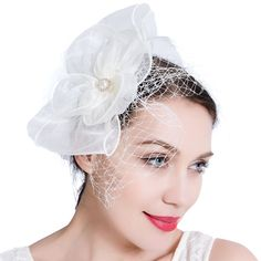 4636b7303a406 Vintage Pillbox Feather Derby Headband Fascinator Hat Hair Band For  Cocktail Tea Party