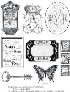 Gina's Designs: Freebie Friday French Printable