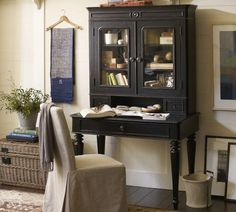 I fell in love with this today! Aniston Desk & Hutch, Pottery Barn.