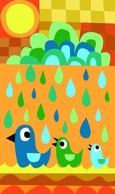 i <3 the rain Wonkybutton