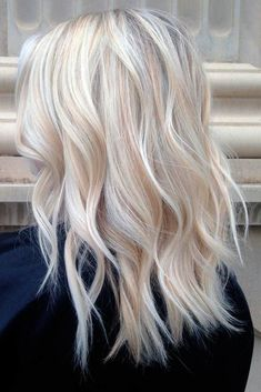 Pretty Shades of Platinum Blonde Hair ★ See more