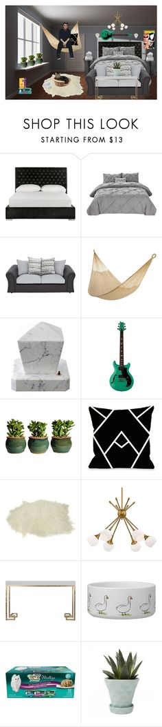 """""""Felix Brock (dorm room)"""" by karabear3256 ❤ liked on Polyvore featuring Safavieh, George Kovacs by Minka and Chive"""