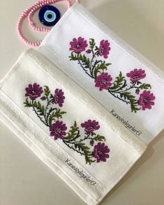 Cross Stitch Borders, Cross Stitch Patterns, Baby Embroidery, Canvas, Crochet, Floral, Galleries, Diy, Crafts