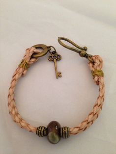 Natural rope bracelet on Etsy, $25.00