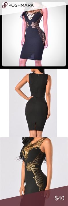 """Coming soon: Gold Lace Up Elegant Dress """"Like"""" to be notified when it arrives Dresses"""