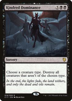 Kindred Dominance card price from Commander 2017 for Magic: the Gathering (MTG) and Magic Online (MTGO). Mtg Vampire, Black Vampire, Magic Playing Cards, Magic Cards, Black Deck, White Deck, Zombie Army, Magic Online, Mtg Decks