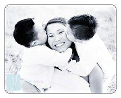 kissing mum's face :)