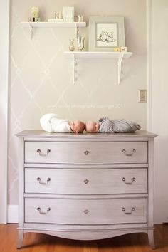 painted gray dresser