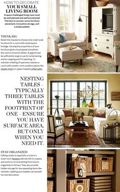 Small Living Room Decorating Ideas & Small Room Décor | Pottery Barn