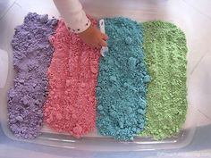 Learn how to make cloud dough that is taste safe to enjoy with your little ones. part 2 of 12 in our sensory dough series! #ilovesensorydough #sensoryplay