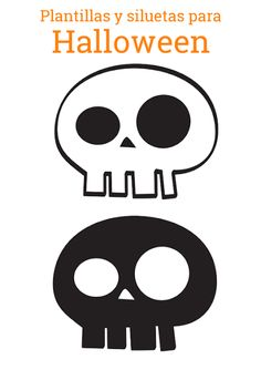 Plantilla calavera. Halloween DIY. Skull template. http://manualidades.euroresidentes.com/2013/10/siluetas-de-halloween.html