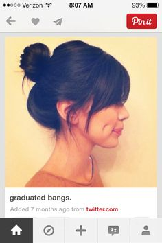 Pointed bangs